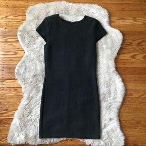 Alice + Olivia Grey Ribbed Bodycon Mini Dress